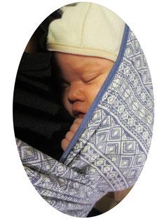 Baby Tragetuch Didymos Prima blau München Trageberatung