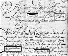 Copie memorie voor d'opperhoofden van de fluijt Immenhorn in dato 14 April 1661 op hare reijse naar Ima  文中にIMA島、ハープ島(Harps Eylant)、長崎(Nangasacki)、台湾の淡水(Tamsui)などが見える。ハーグ国立文書館蔵、VOC1235-843。