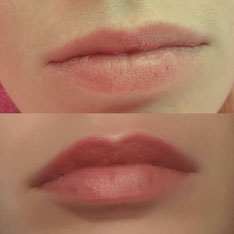 Permanent Make Up Lippen vorher-nachher. Pimp my Face - Hamburg, Geesthacht & Norderstedt