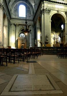 Gnomon (instrument de calcul astronomique) de l'église St Sulpice à Paris