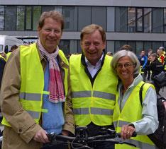 Gero Storjohann, Ingo Gädechens und Alexandra Dinges-Dierig nahmen an der 8. Parlamentarischen Fahrradtour teil