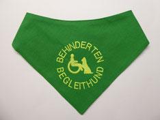 Behinderten Begleithund,  Halstuch, grasgrün, grün, Rolli