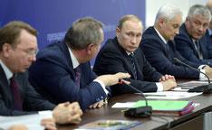 Военно-промышленная комиссия, заседание 12 февраля 2016 г., Президент России Владимир Путин, вице-премьер Дмитрий Рогозин