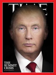 Путин Владимир, Президент России, Дональд Трамп, Президент США, Time 30 июля 2018