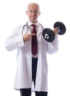 Fitness und Krafttraining für Ärzte, Physiotherapeuten und Patienten.