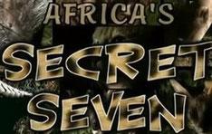 I sette animali segreti dell'Africa: servalo, porcospino, gatto selvatico africano, formichiere, zibetto, pangolino, genetta.