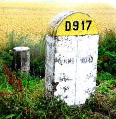 Borne de frontière entre le Nord et la Somme
