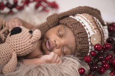 baby with a teddy bear