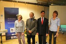 Dr. Ulrike Wagner, Gary Braasch, Konsul Anthony Miranda und Dr. Maiken Winter im ÖBZ