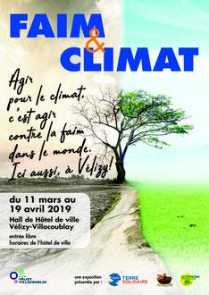 Exposition Faim & Climat à Vélizy-Villacoublay.