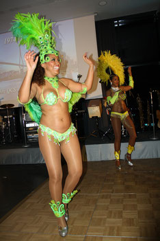 One of the highlights: spectacular samba dancers that stirred up the blood of many.