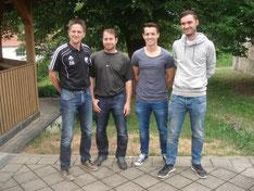 von links: Vorsitzender Sport Martin Schultes, Trainer Christian Auer, Co-Trainer Florian Schinn, Abteilungsleiter Josef Deisenrieder