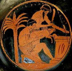 Médaillon représentant le sacrifice d'un sanglier 500 ans avant JC