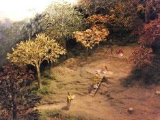 荒神谷遺跡銅剣埋納の儀式再現ジオラマ(島根県立古代出雲歴史博物館蔵)