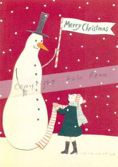 Postkarte Schneemann, Lola Renn