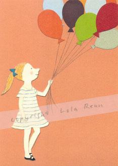 Postkarte Luftballons, Lola Renn