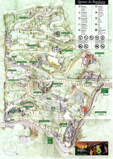 Plan de la Quinta da Regaleira : un vrai labyrinthe !