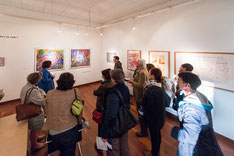 Visite-découverte de l'artothèque pour la Nuit des musées, mai 2015. © Mathieu Le Gall