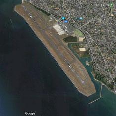 山口宇部空港(Google earth)