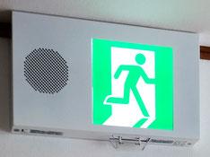 誘導音付点滅型誘導灯
