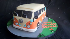 VW Campervan birthday cake