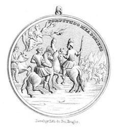 Médaille portée par les membres de la Confrérie