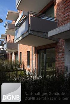 Lübecker Wohngebäude mit DGNB Silber Zertifikat
