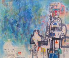 a la decouverte du palais perdu, shoichi hasegawa, aquarelle