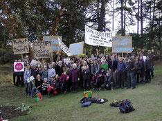 近くにできる石油の積出港に反対するラスクエティの住民たち 350.org / CC BY-NC-SA 2.0