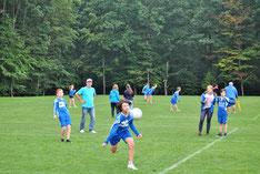 Der Faustball-Nachwuchs des TV Hohenklingen präsentierte sich beim eigenen Sportfest wieder recht erfolgreich. Die engagiert auftretenden Kids der U12 (unser Bild) wurden Dritter
