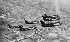 Prima formazione di 6 Sabre CL-13  guidata dal Magg. Squarcina