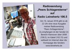 Peer Wagener im Citystudio bei radio leinehertz 106.5