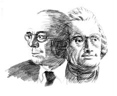 John Dos Passos und Thomas Jefferson © Valdemar Sousa, 2004