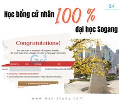 V.T.N.Mai - hs của Gsc đạt học bổng 100% tại đại học Sogang