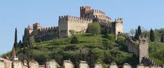 Het Castello di Soave dat uitziet op Cantina del Castello