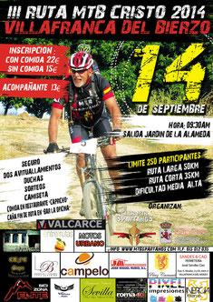III RUTA MTB CRISTO 2014 -Villafranca del Bierzo, 14-09-2014