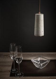 Betonlampen, Beton-Lampenschirm für Pendelleuchten