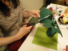 クリスマスカード作り02