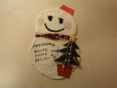 クリスマスカード03 雪だるま02