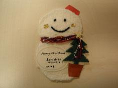 クリスマスカード01 雪だるま
