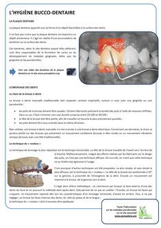 FIche Hygiène bucco-dentaire