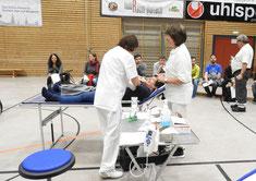Spenderüberwachung und Betreuung