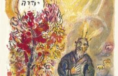 Marc Chagall, Moses und der brennende Dornbusch