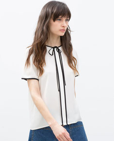 Zara Bow Detail Top