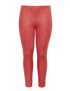 rote Leggings mit modischem Schlangenprint in großen Größen , Moppel-Mode