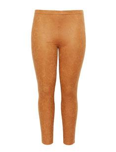 Plus Size Leggings mit Schlangendruck in ocker , sexy Figur