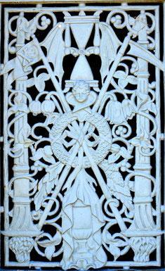 Détail de la porte de la chapelle