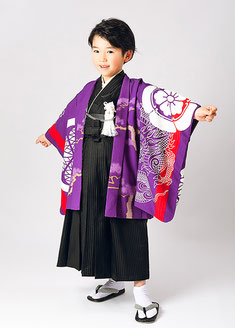 No.5-41 葵紋と龍 パープル