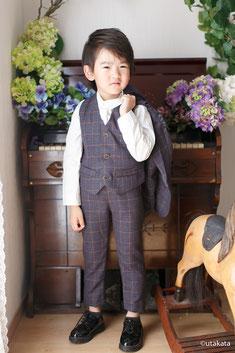 お衣装セットs5-6『3pcスーツ チャコール』