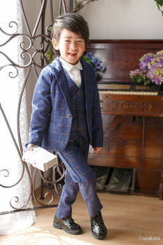 七五三お衣装セットs5-9『スーツ ネイビー』